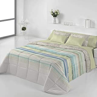 JVR Tejidos Edredón Conforter Nórdico Queens - Cama 180 Cm - Color Turquesa