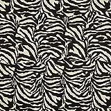 Jacquard Gobelin zebra – schwarz/weiss — Meterware ab 0,5m — zum Nähen von Outdoor Deko, Tagesdecken & Tischdekoration