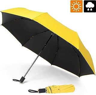 ESEOE Umbrella, Sun Umbrella UV Protection Outdoor Waterproof Umbrella, Compact Folding Umbrella for Travel, Sun & Rain Umbrellas with Black Anti-UV Coating
