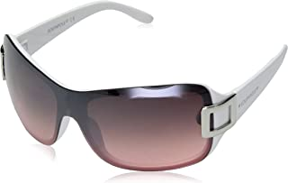 Southpole Women's 1019sp Whpk Non-polarized Iridium Shield Sunglasses, White Pink, 170 mm