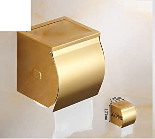 European gold-plated toilet roll holder/ Golden Towel rack/Toilet paper shelf /[Waterproof hand tray]/ sealed box-C