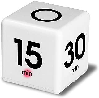 FeiFei66 Creative Clock Timer Alarm Cube Digital 5, 15, 30, 60 Minutes Time Management White