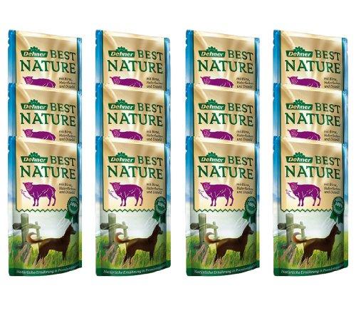 Dehner Best Nature Hundefutter Adult, Lamm und Birne mit Haferflocken, im Beutel, 12 x 150 g (1.8 kg)
