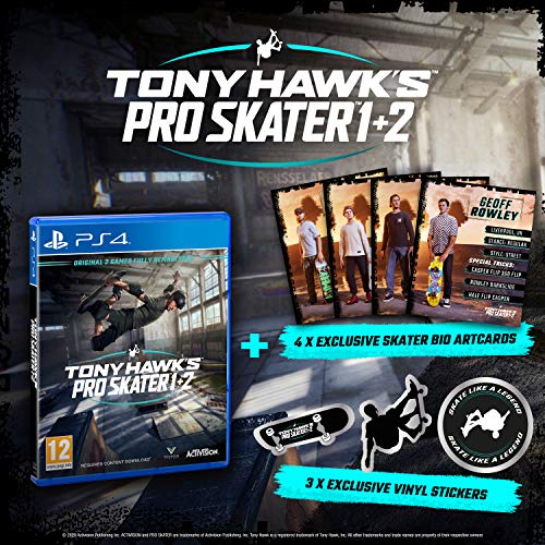 Tony Hawk's Pro Skater 1 + 2 (PS4) (Amazon.co.uk Exclusive)