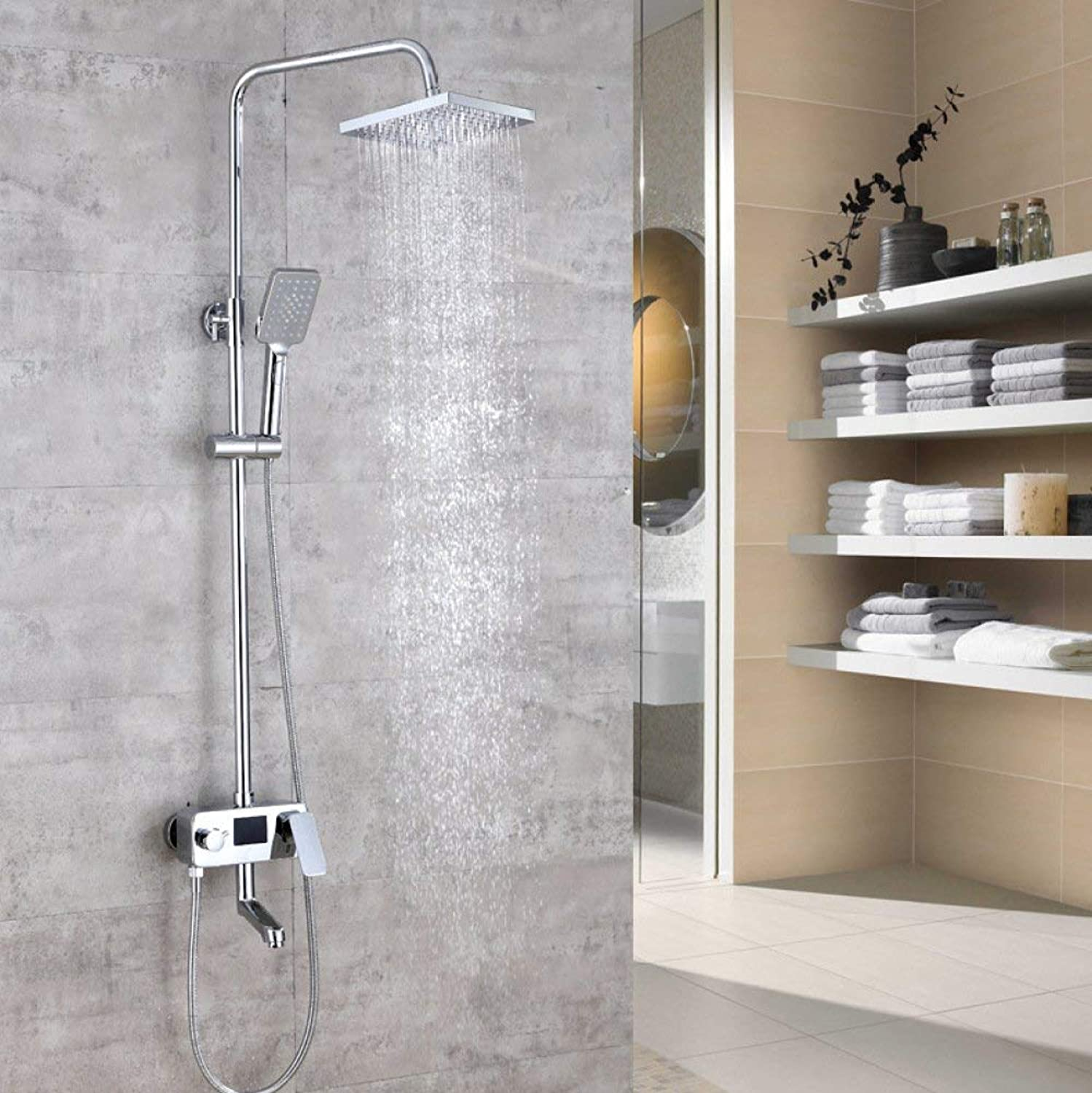 Bathroom Equipment Shower kitCopperLift Hot Shower setDigital Significant Top GearHot \\ u0026 Cold Mixing Faucet