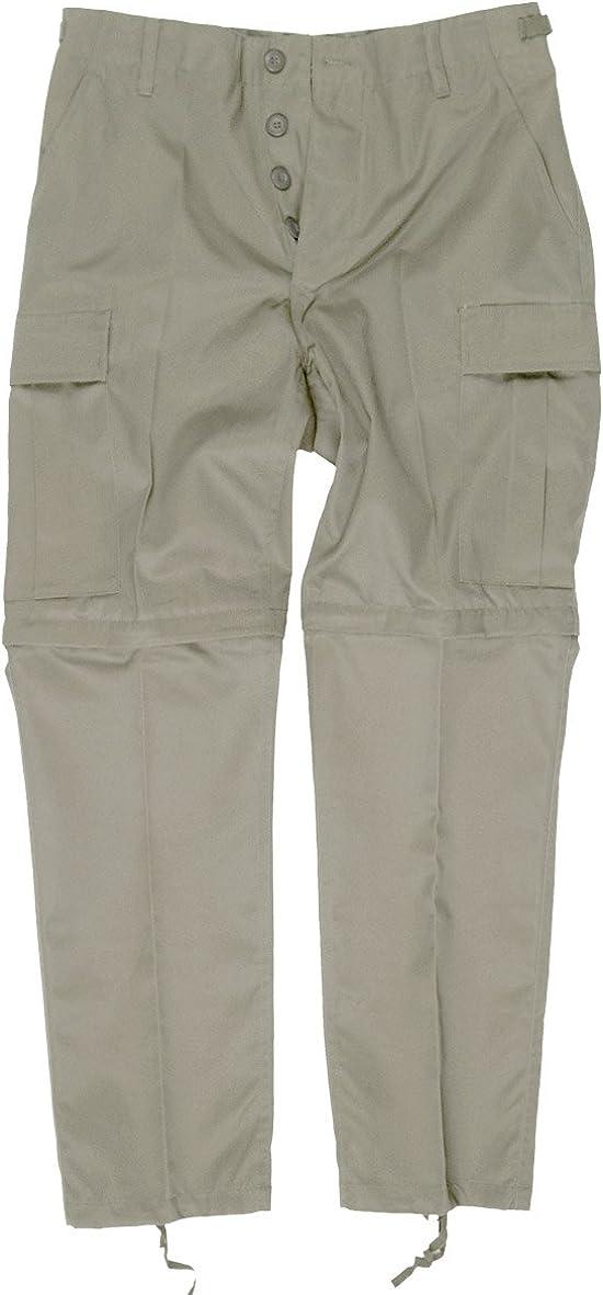 Mil-Tec Zip-Off Combat Trousers Khaki