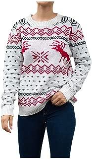 GDJGTA Sweaters for Womens Christmas Sweater Long Sleeve O-Neck Xmas Tree Knitting Sweater Tops