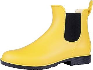 d3fc44a08 Asgard Women s Short Rain Boots Waterproof Slip On Ankle Chelsea Booties
