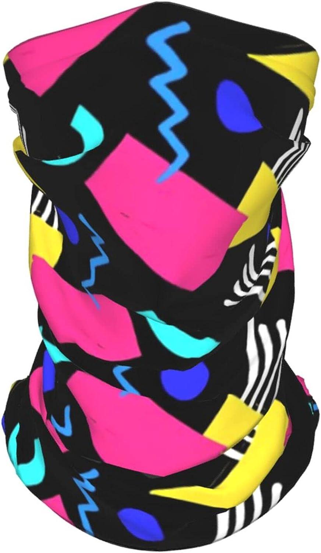 80s 90s Retro Neck Gaiter Multipurpose Headwear Ice Silk Mask Scarf Summer Cool Breathable Outdoor Sport 4 Pcs