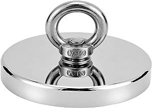 Uolor 580 Kg Haftkraft Neodym Ösenmagnet Magnete, N52 Super Starke Magnet Perfekt zum Magnet Angel Magnetfischen - Durchmesser 120mm mit Öse Neodymium Topfmagnet