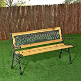 ArtLife 2-Sitzer Gartenbank Pisa aus lackiertem Holz & Gusseisen - 2