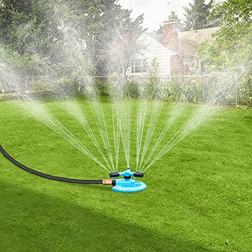 BOBOO Sprinkler, Rotating Lawn Sprinkler, Large Area Coverage Sprinklers for Lawn and Garden, 3000 Square Feet Water Sprinklers, Adjustable Angle Yard Sprinkler