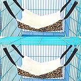 Kongqiabona-UK Pet Hammock Pard Print Hamaca Cama Colgante Hamaca para Dormir y Descansar