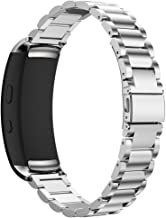 Maxjoy Compatible with Samsung Gear Fit 2 Band,Watch Bands Premium Stainless Steel Bracelet Metal Watch Strap with Magnet ...