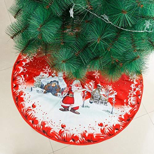 VWsiouev - Funda para base de árbol de Navidad, 39 pulgadas de diámetro, diseño de copo de nieve de punto de copo de nieve, alfombra grande para Navidad, decoración del hogar (A)