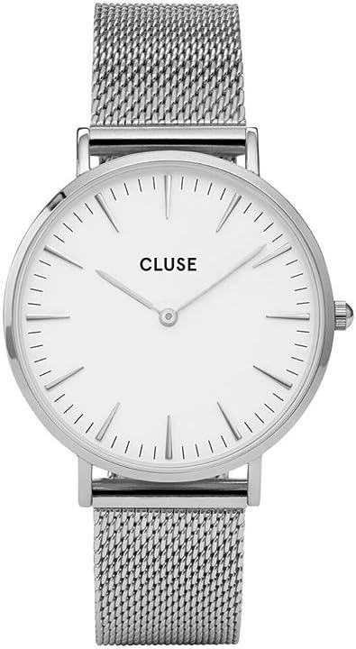 Orologio tempo donna cluse cl18105 la boheme acciaio 38 bianco quarzo originale CL18105