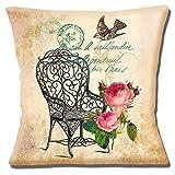 Französisch Shabby Chic Vintage Gartenstuhl Roses Vogel - 40.6cm (40cm) Kissenbezug