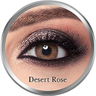 Amara Desert Rose Contact Lenses, Original Unisex Amara Cosmetic Contact Lenses, Monthly Disposable, Desert Rose (Brown Co...