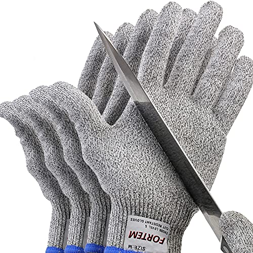 Fortem Cut Resistant Gloves, 4 Kevlar...
