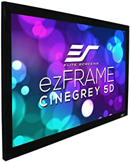 Elite Ezframe Fixed Frame Ambient Light Rejecting Screen, 1.8 Gain, Cinegray 5D, 16:9 Format, 135 Inch Size