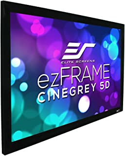 """Elite Screens ezFrame CineGrey 5D, 165"""" Diagonal 16:9, 8K 4K Ultra HD Ready Ceiling Light Rejecting and Ambient Light Rejecting Fixed Frame Projector Screen, CineGrey 5D Projection Material, R165DHD5"""