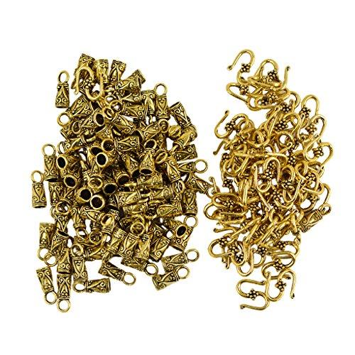Milageto 30 piezas de joyas de aleación en forma de S con cierre en Y y 60 piezas de conector de péndulo para