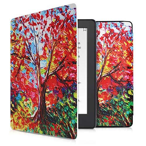 kwmobile Custodia Compatibile con Kobo Aura H2O Edition 2 - Cover in Simil Pelle Magnetica Flip Case Custodia per eReader Multicolore/Arancione/Rosso