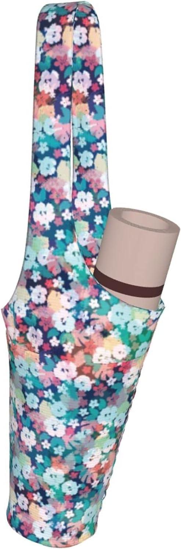 Jeezhub Colorful Pixel Floral Blossom Yoga Over item handling Po with Large Mat Bag Over item handling ☆