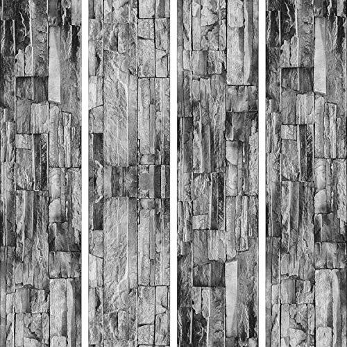 murando - PURO TAPETE - Realistische Steinoptik Tapete ohne Rapport und Versatz 10m Vlies Tapetenrolle Wandtapete modern design Fototapete - ! Steine f-A-0208-j-d