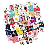 Festiko 48 Pieces Romantic Love Notes Greeting Cards for Valentine's Day, Express Love, Marriage Proposal, Wedding, Engagement,Exciting Lives Love Story Romantic Love Cards - Birthday, Anniversary Gift, pre Wedding Photo Shoot, Post Wedding Photoshoot Greeting Card (SET OF 48)