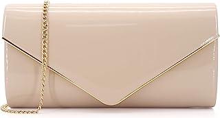 Dexmay Clutch, Clutch, Lackleder, glänzend, für Damen, Clutch, Abendtasche