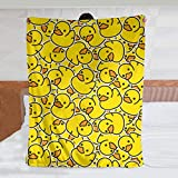 Cute Rubber Ducky Throw Blanket Warm Ultra-Soft Micro Fleece Blanket for Bed Couch Living Room
