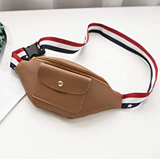 Women's Leisure Lightweight Waist Pack, Outdoor Fashion Multifunction Waist Bag Single Diagonal Package Adjustable Belt Commuter/Banquet, Travel, Leisure, Party Zip Waist Pack (Size:20 * 2 * 11CM)