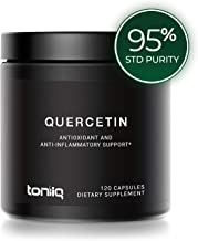 Ultra High Strength Quercetin Capsules - 95% Standardized Purity - The Highest Purity Quercetin Available - 1000mg - 120 Veggie Capsules