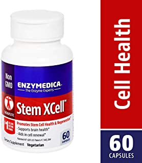 Enzymedica, Stem XCell, Antioxidant Support for Cellular Renewal, Brain Health and Stem Cell Regeneration, Vegetarian and Non-GMO, 60 capsules (30 servings)