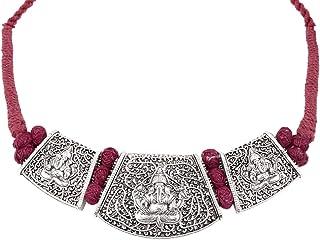 عقد طوق من خليط معدني للنساء من نيدهي - احمر