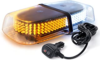 Xprite Dual color Amber / White Warning Emergency Truck Car 240-LED Snow Plow Safety Strobe Light W/ Magnetic Base