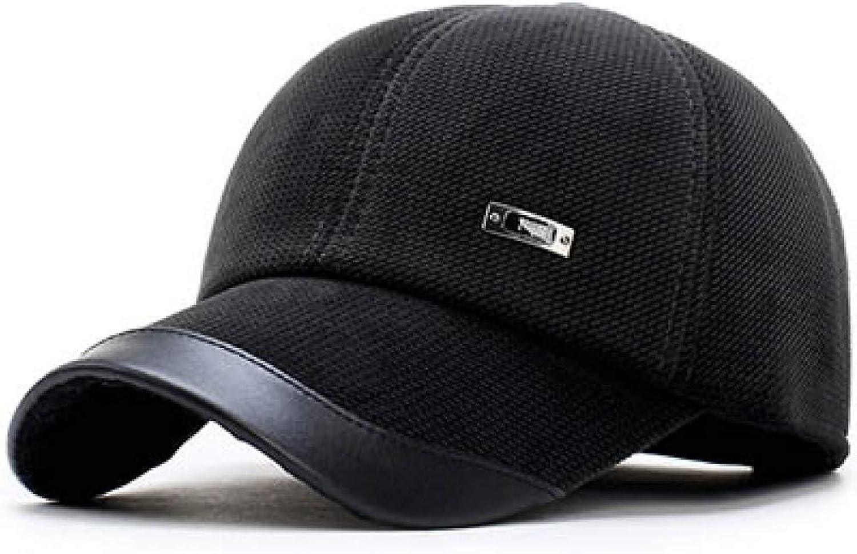e7e8f1fa0bb689 JKYJYJ Winter Men's Baseball Cap Keep Warm Corduroy Male Hat with  Predective Ear Thickening Polar Fleece