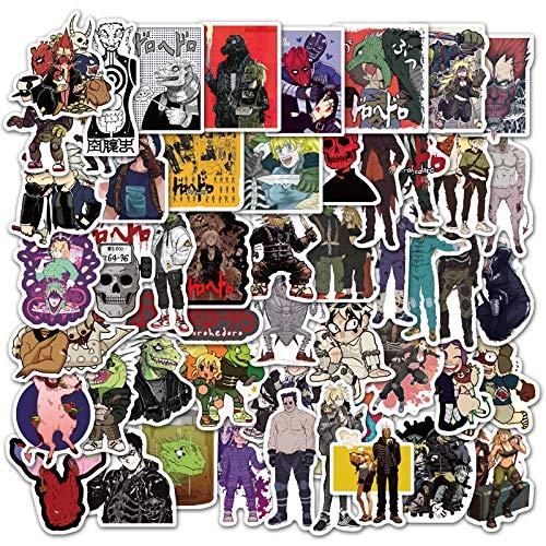 YOUYOU Japanisches Anime-Dorohedoro-Aufkleber für Skateboard, Kühlschrank, Gitarre, Laptop, Reisegepäck, Spielzeug, Graffiti-Aufkleber, F5, 50 Stück