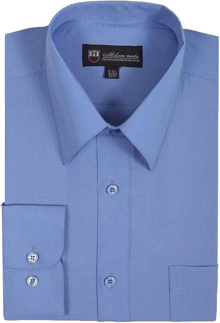 Milano Moda Men's Dress Shirt with Pointed Collar HLSG02 New York Brand