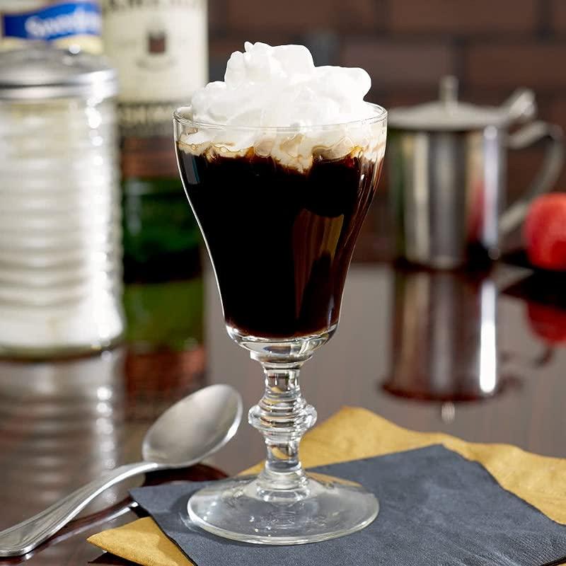 SET Of 4 Libbey 8054 6 Oz Georgian Irish Coffee Glass W Signature Party Picks