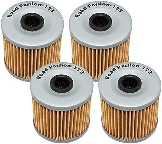 Road Passion Oil Filter for KAWASAKI KLR600 KL600 1984-1990 KLR650 1987-2016 KLR650 CAMO 650 2016 KLR650 NEW EDITION 2014 KL650 TENGAI 1989-1992 (pack of 4)