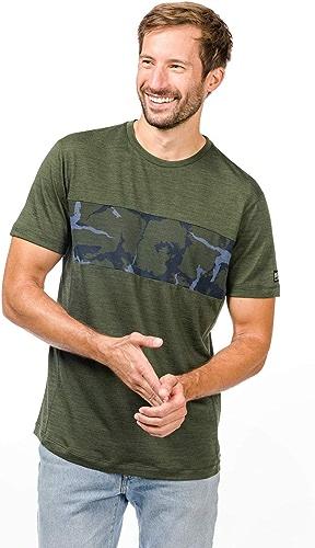 Super. Natural M Camo T-Shirt en Laine mérinos Homme XXL