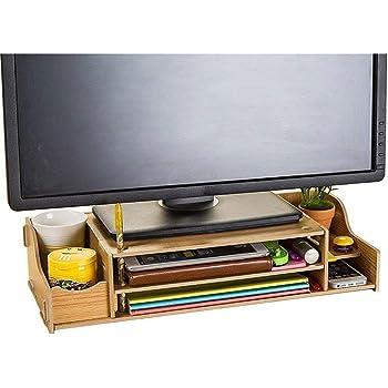 ITFancysweety Monitor Universale Multiuso per Aumentare Il Supporto Portatile in Legno Supporto per Notebook Tavolo per Computer Portatile