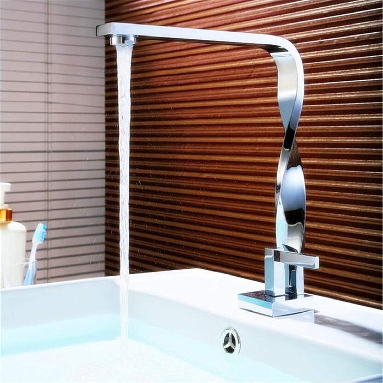 Faucet Washbasin Mixer ?Chrome Twist Bathroom Faucet Basin Crane Waterfall Water Faucet Basin Mixer Taps Deck Mounted Sink Faucet Brass Torneira