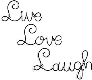 JaipurCrafts WebelKart Live Love Laugh Set 3 Wall Mount Metal Wall Word Sculpture, Wall Decor