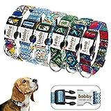 Didog - Collares personalizados para perros con hebilla de liberación rápida grabada, diseños modernos, para perros pequeños, medianos y grandes