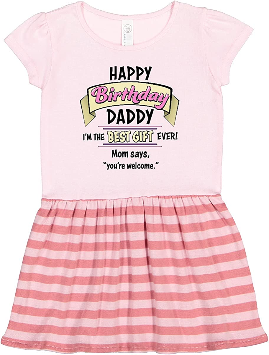 inktastic Happy Bargain Birthday Daddy Dress Pink in Japan Maker New Toddler