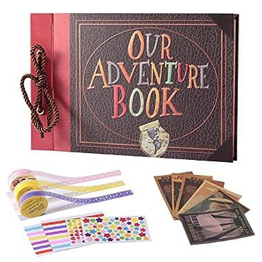 TEOYALL Our Adventure Book Scrapbook Photo Album DIY Family Anniversary Scrapbook Wonderful Gift for Birthday Wedding Thanksgiving Day Christmas (Adventure#1)