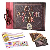 Our Adventure Book, TEOYALL Up Scrapbook Handmade DIY Photo Album with Embossed Cover